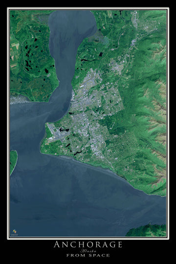 Anchorage Alaska Satellite Poster Map - TerraPrints.com