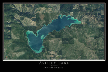 The Ashley Lake Montana Satellite Poster Map