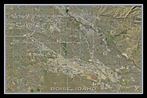 Boise Idaho From Space Satellite Poster Map - TerraPrints.com