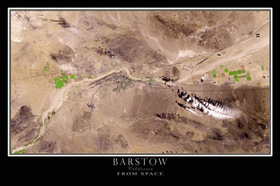 Barstow California Satellite Poster Map - TerraPrints.com