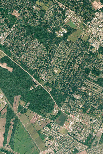 Baton Rouge Louisiana From Space Satellite Poster Map