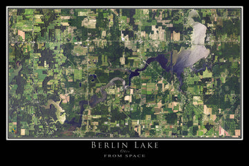 The Berlin Lake Ohio Satellite Poster Map