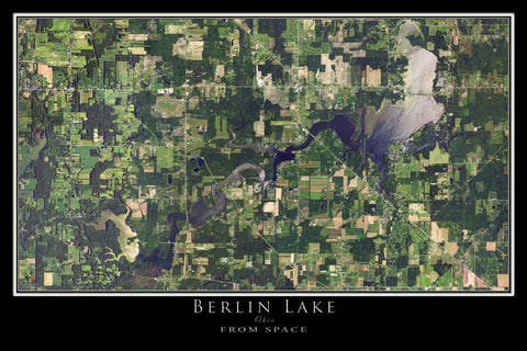 Berlin Lake Ohio Satellite Poster Map