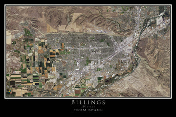 The Billings Montana Satellite Poster Map