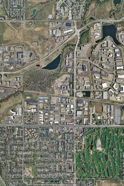 Boulder Colorado From Space Satellite Poster Map