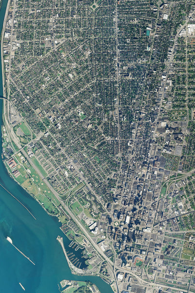 Buffalo New York From Space Satellite Poster Map