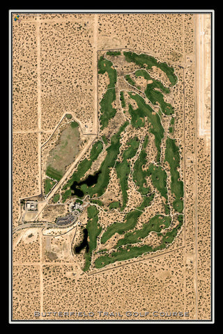 Butterfield Trail Golf Course Texas Satellite Poster Map