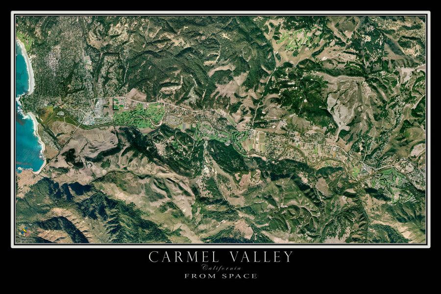 Carmel Valley California Satellite Poster Map - TerraPrints.com