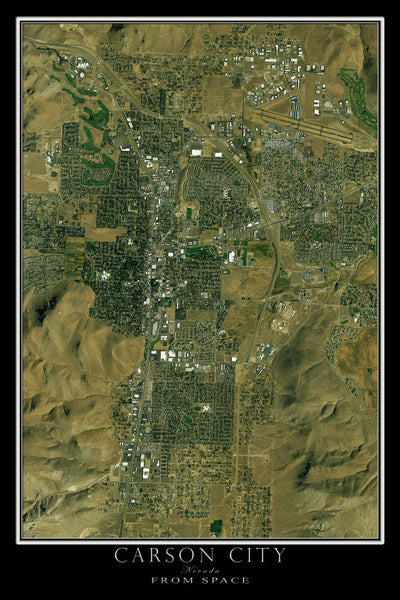 Carson City Nevada Satellite Poster Map - TerraPrints.com