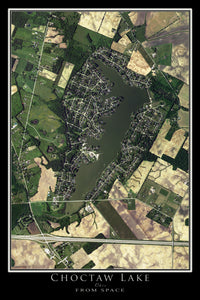 The Choctaw Lake Ohio Satellite Poster Map