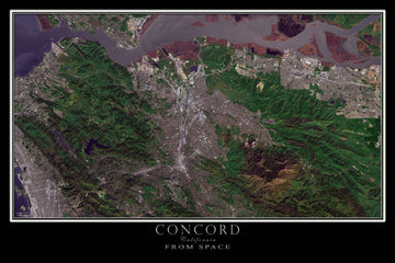 Concord California Satellite Poster Map - TerraPrints.com