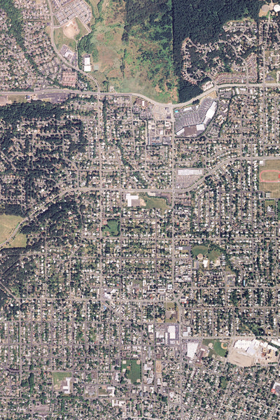 Corvallis Oregon From Space Satellite Poster Map