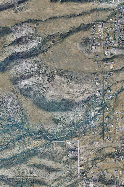 Cottonwood Arizona From Space Satellite Poster Map