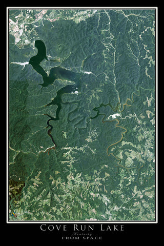 Cove Run Lake Kentucky Satellite Poster Map
