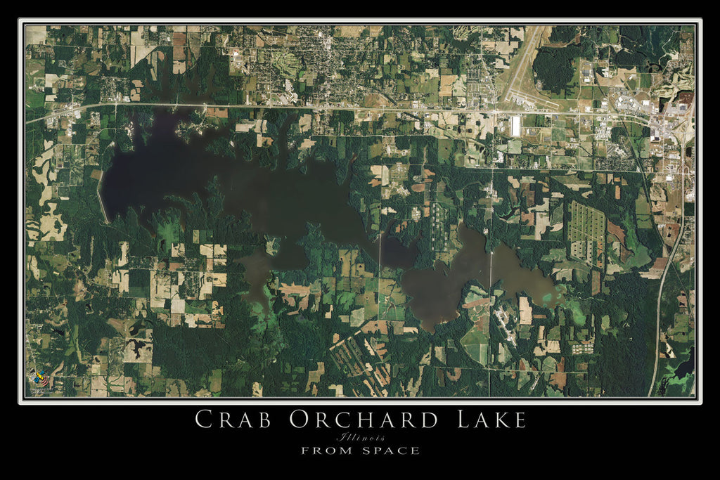 Crab Orchard Lake Illinois Satellite Poster Map