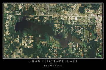 The Crab Orchard Lake Illinois Satellite Poster Map