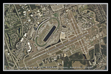 The Daytona Beach Intl Airport Florida Satellite Poster Map