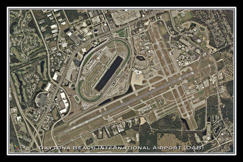 Daytona Beach Intl Airport Florida Satellite Poster Map