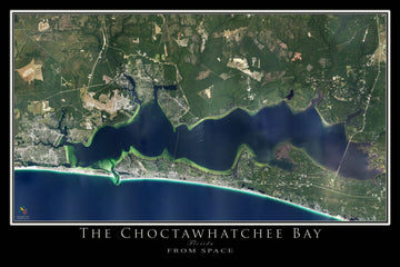 The Destin - Choctawhatchee Bay Florida Satellite Poster Map