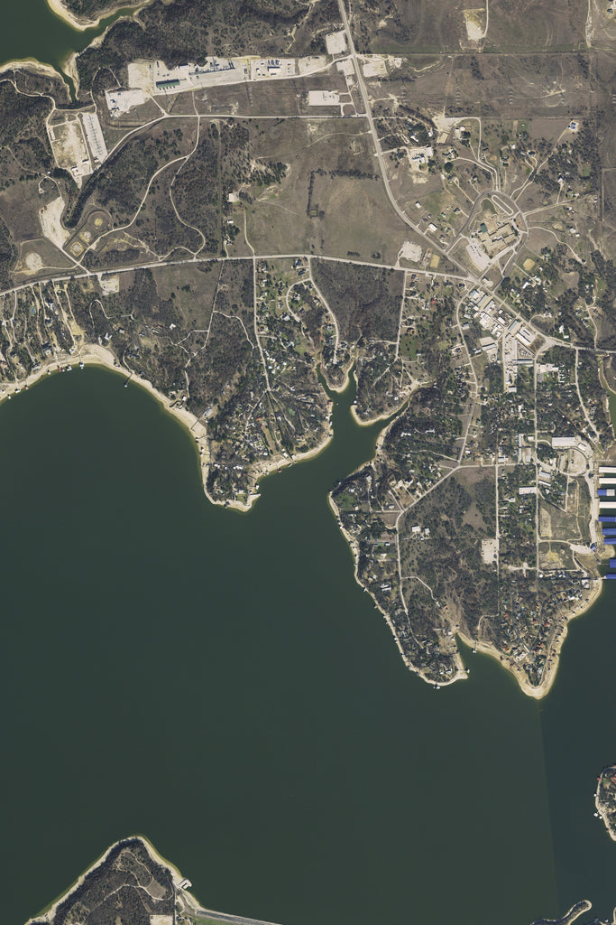 Eagle Mountain Lake Texas Satellite Poster Map TerraPrintscom - Satellite map of texas