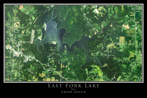 East Fork Lake State Park Ohio Satellite Poster Map