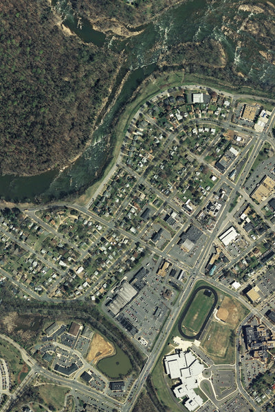 Falmouth Virginia From Space Satellite Poster Map