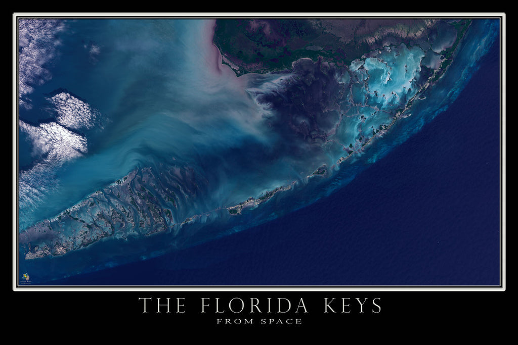 Florida Keys Satellite Poster Map Terraprints Com