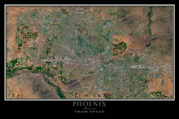 Greater Phoenix Arizona Satellite Poster Map - TerraPrints.com