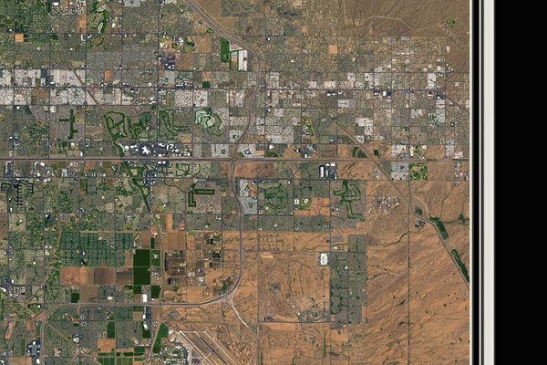 Greater Phoenix Arizona From Space Satellite Poster Map