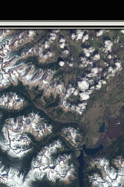 Glacier National Park Montana From Space Satellite Poster Map