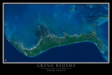 Grand Bahama Island Satellite Poster Map - TerraPrints.com