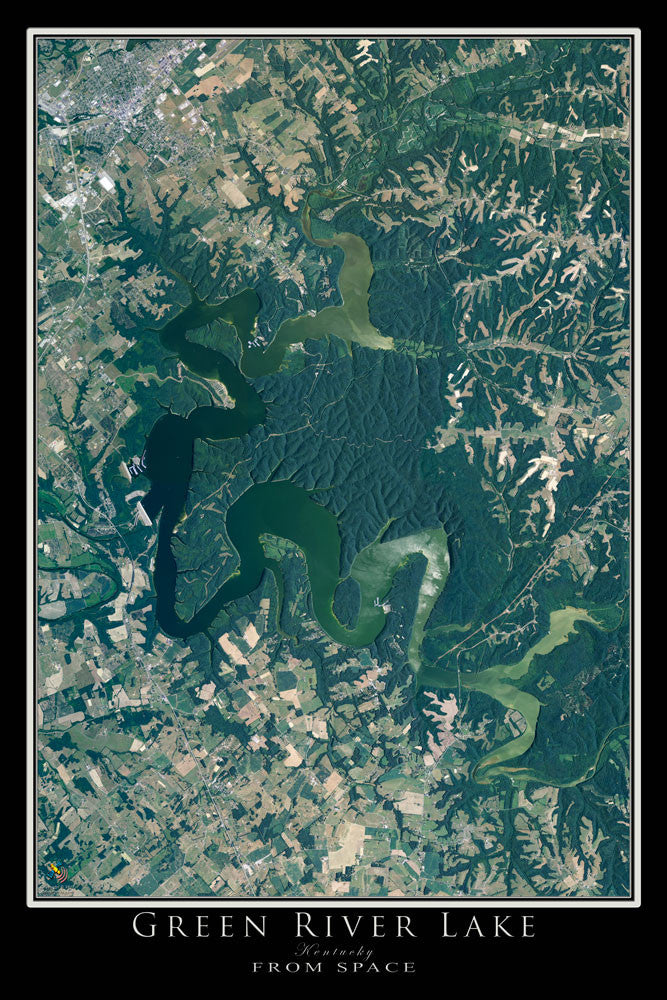 Green River Lake Kentucky Satellite Poster Map