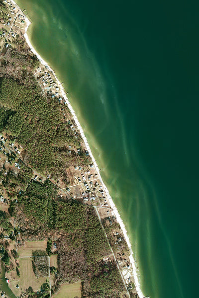 Gwynn's Island Virginia From Space Satellite Poster Map