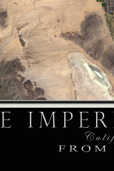 Imperial Valley California Satellite Poster Map