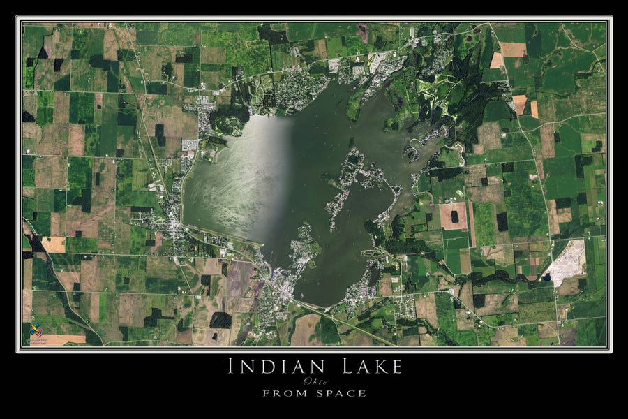 The Indian Lake Ohio Satellite Poster Map