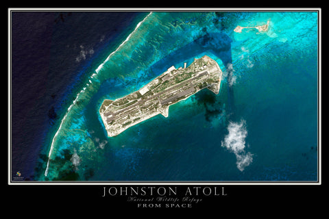 Johnston Atoll Satellite Poster Map - TerraPrints.com