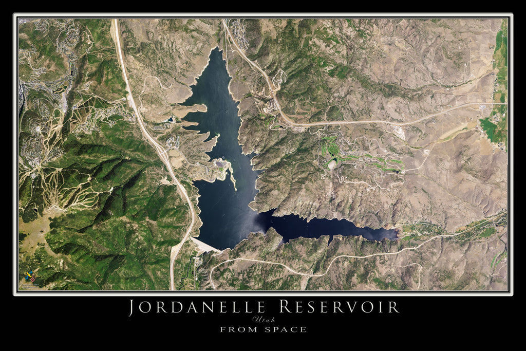 Jordanelle Reservoir and State Park Utah Satellite Poster Map