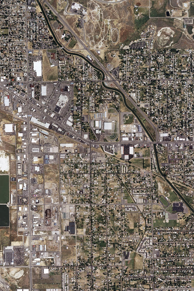 Klamath Falls Oregon From Space Satellite Poster Map
