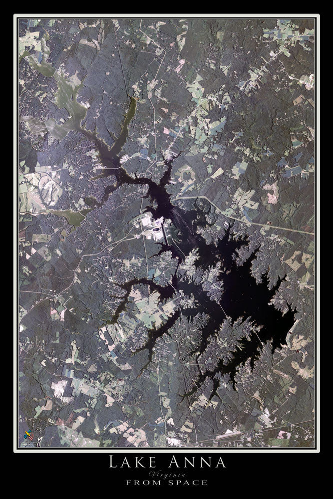 Lake Anna Virginia Satellite Poster Map