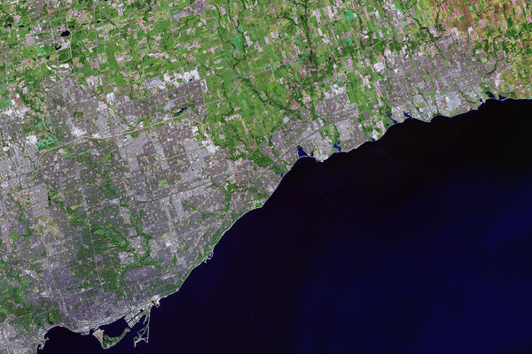 Lake Ontario Satellite Poster Map