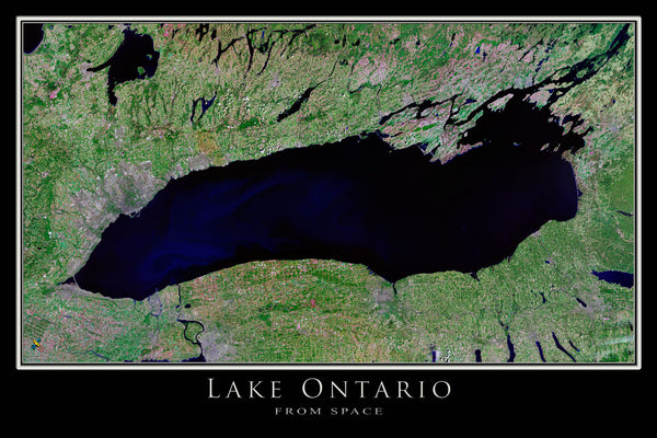Lake Ontario From Space Satellite Poster Map - TerraPrints.com
