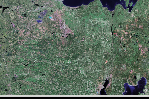 Lake Superior From Space Satellite Poster Map