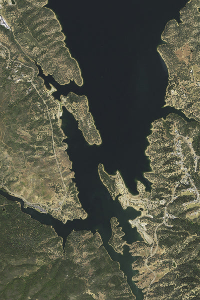 Lake Berryessa California Satellite Poster Map