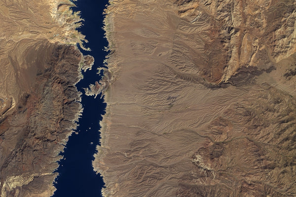 Lake Mead Nevada - Arizona Satellite Poster Map