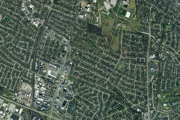 Lexington Kentucky From Space Satellite Poster Map