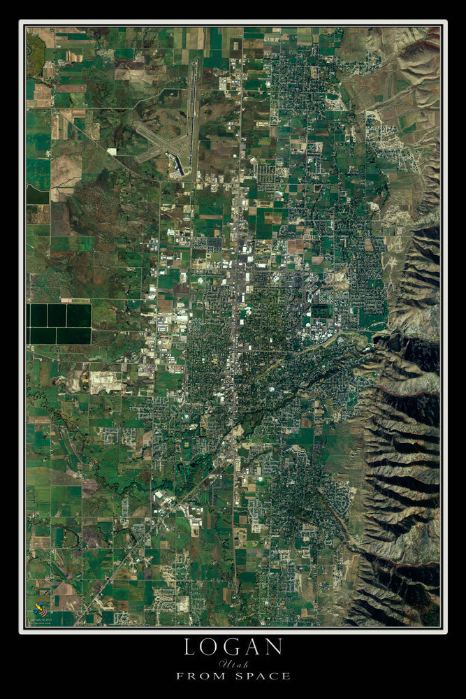 Logan Utah Satellite Poster Map by TerraPrints.com. Available in multiple sizes with free shipping in the USA.