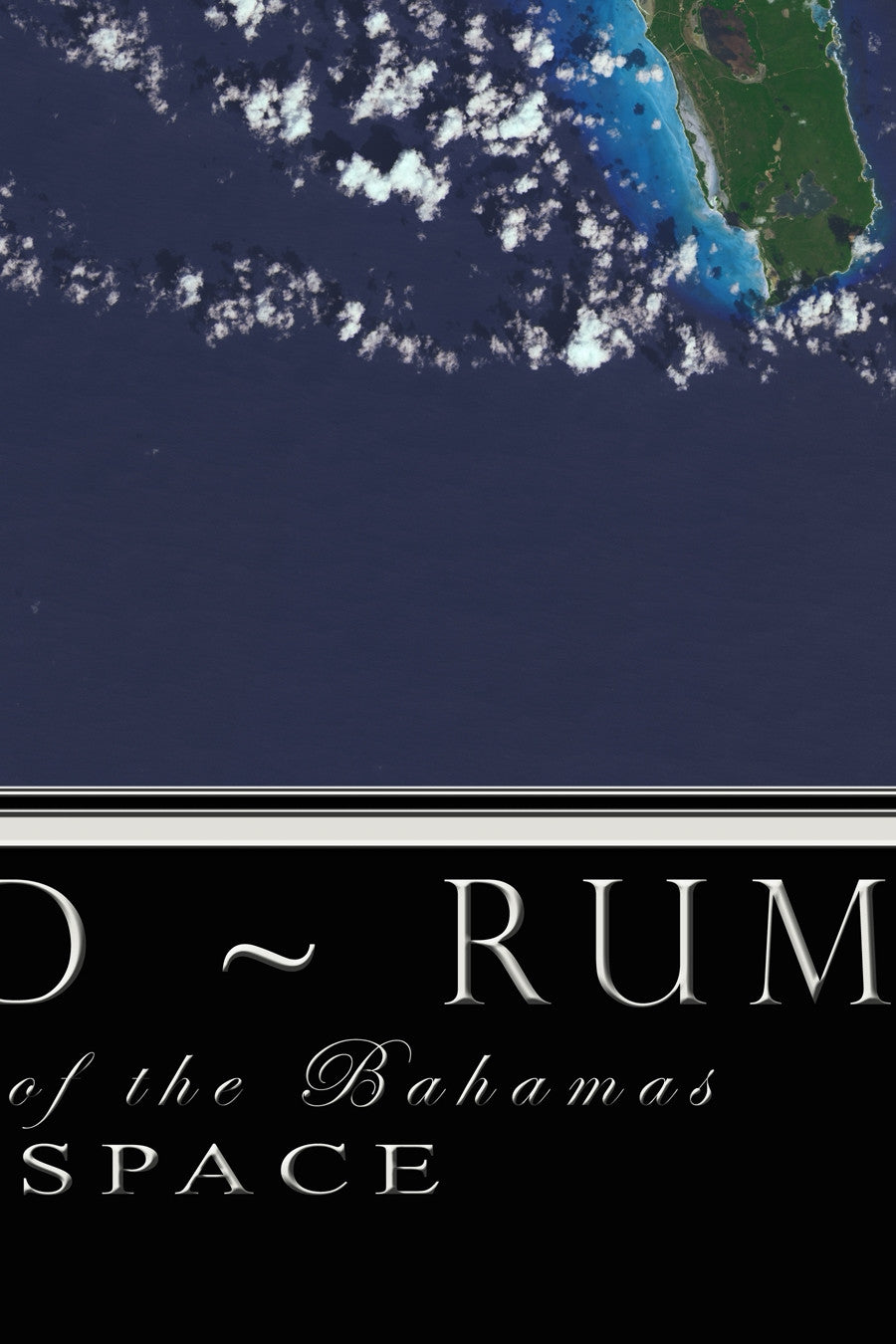 The Long Island Bahamas Satellite Poster Map