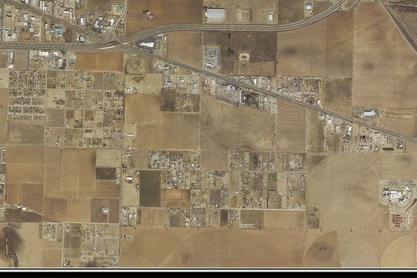 Lubbock Texas From Space Satellite Poster Map