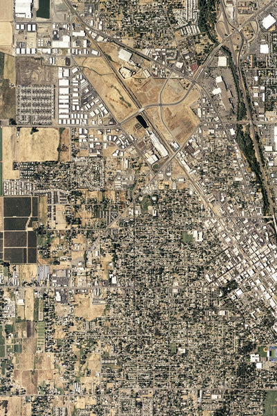 Medford Oregon From Space Satellite Poster Map