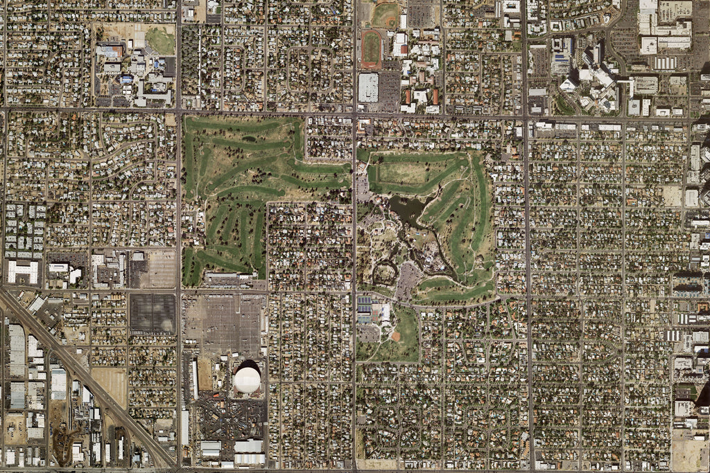 Satellite Map Of Arizona.Phoenix Arizona Satellite Poster Map